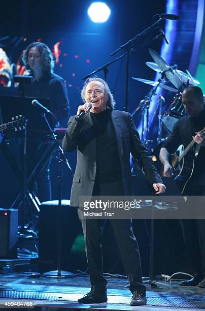 Person of the Year Honoree Joan Manuel Serrat onstage during the 15th Annual Latin GRAMMY Awards held at the MGM Grand Arena on November 20 2014 in...