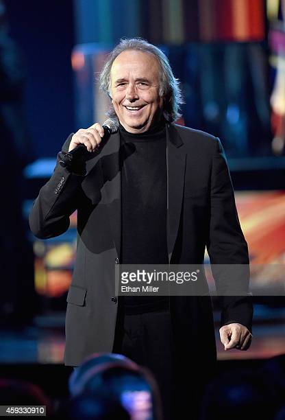Person of the Year honoree Joan Manuel Serrat performs onstage during the 15th Annual Latin GRAMMY Awards at the MGM Grand Garden Arena on November...