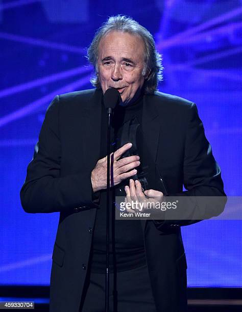 Person of the Year Honoree Joan Manuel Serrat speaks onstage during the 15th annual Latin GRAMMY Awards at the MGM Grand Garden Arena on November 20...