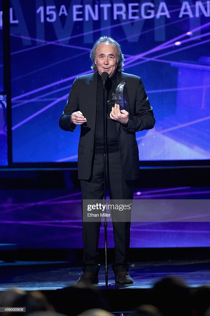 Person of the Year honoree Joan Manuel Serrat speaks onstage during the 15th Annual Latin GRAMMY Awards at the MGM Grand Garden Arena on November 20, 2014 in Las Vegas, Nevada.