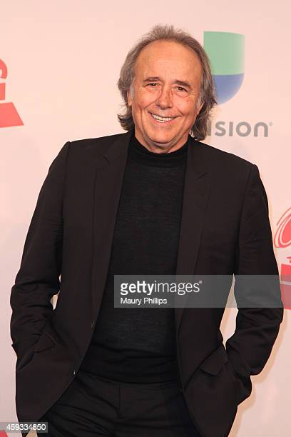 Person of the Year Joan Manuel Serrat poses in the press room during the 15th annual Latin GRAMMY Awards at the MGM Grand Garden Arena on November 20...
