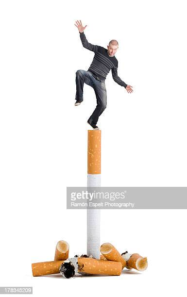 A person on top of a cigarette
