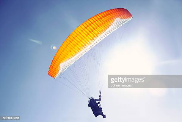 Person parachuting