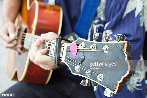 person playing a guitar - songwriter stock pictures, royalty-free photos & images