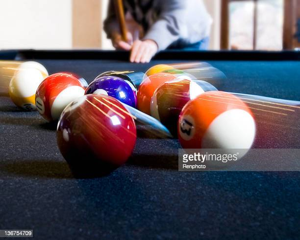 Person Playing Pool: Motion Blur
