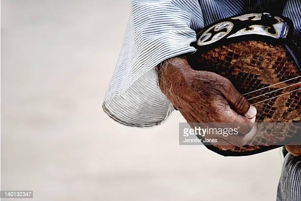 person playing shamisen - vangen imagens e fotografias de stock