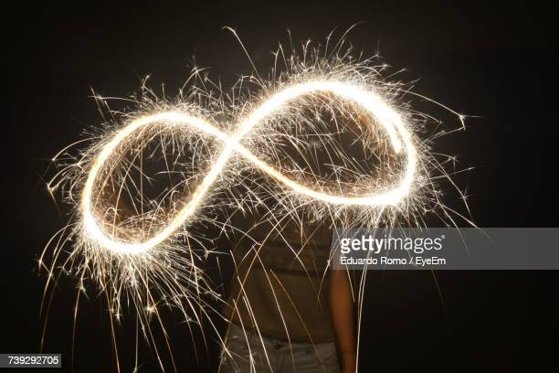Person Playing With Sparkler