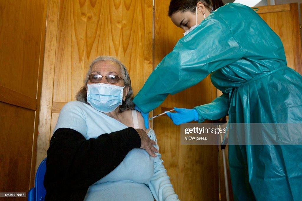 COVID19 Vaccine Center Lisbon : News Photo