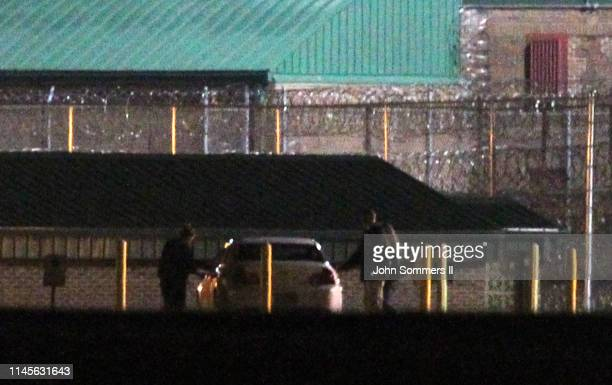 A person reportedly to be American Taliban John Walker Lindh is seen leaving the Terre Haute Federal Correctional Complex early in the morning on May...