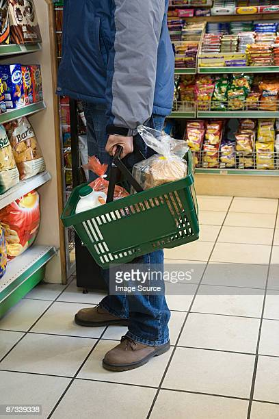 Person shopping for groceries