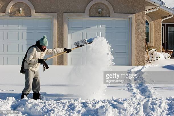 Shoveling 雪
