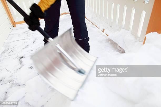 Person shovelling snow