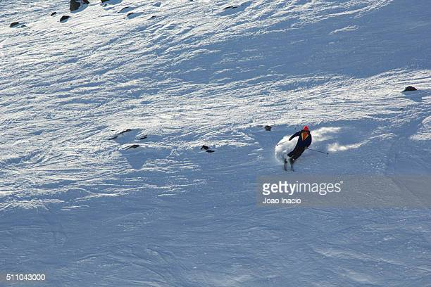 Person skiing at Mount Ruapehu ski area