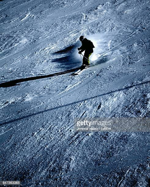Person Skiing At Val Disere