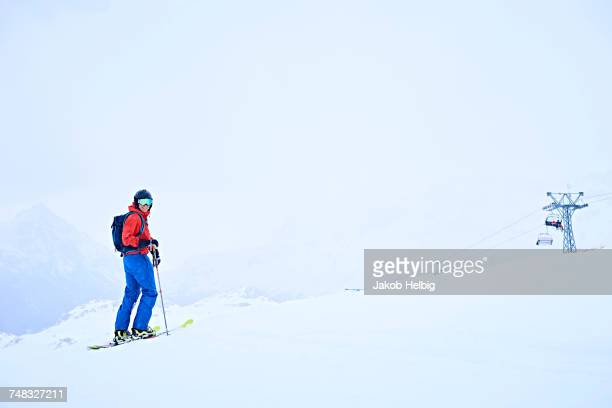 Person skiing, Hintertux, Tirol, Austria