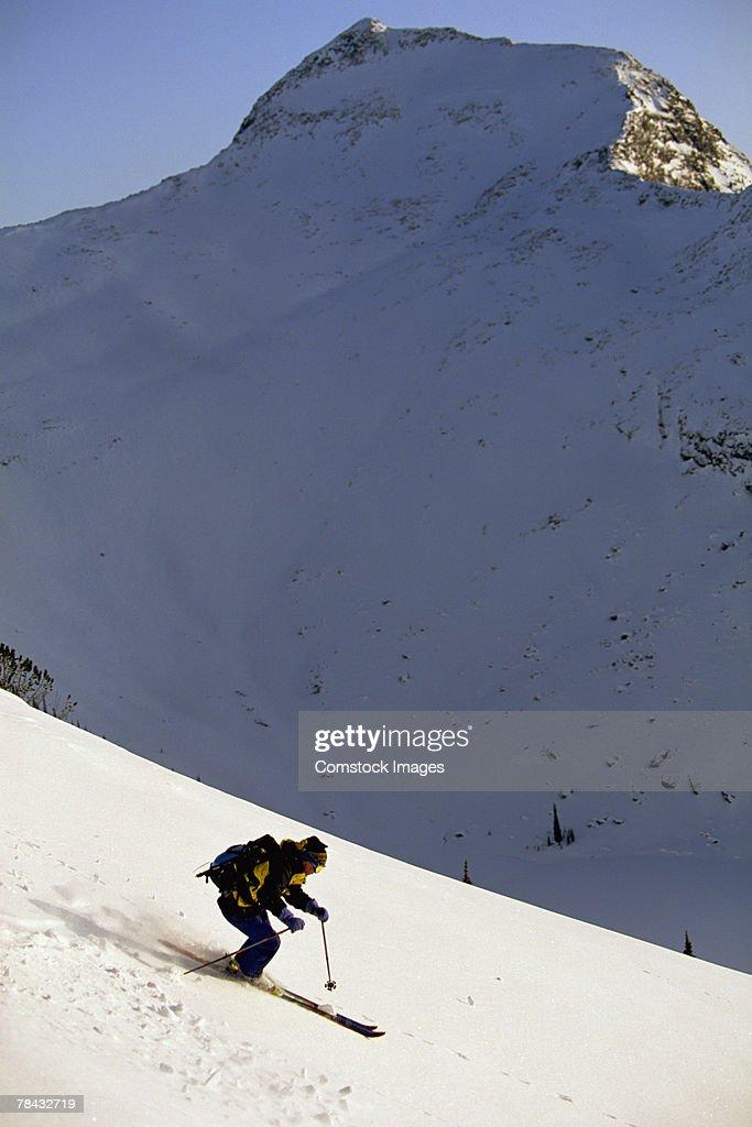 Person skiing : Stockfoto