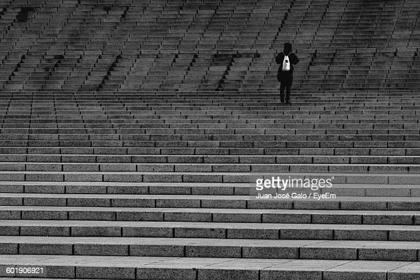 Person Standing On Steps