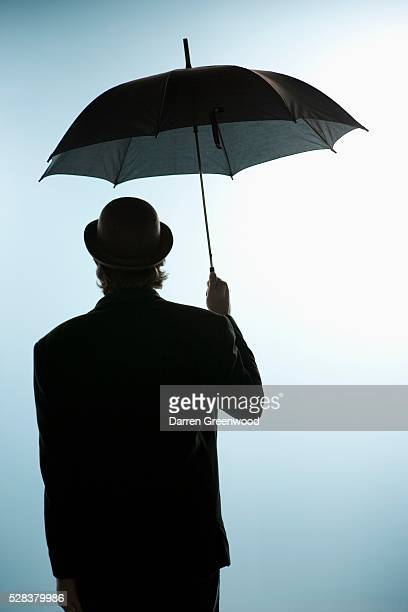 Person under umbrella