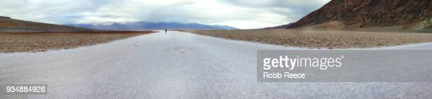 a person walking alone in the remote desert of death valley - robb reece bildbanksfoton och bilder