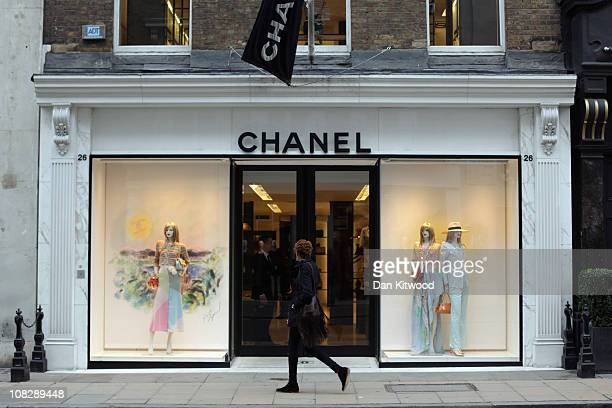A person walks by the Chanel store on Bond Street on January 24 2011 in London England Despite the expected retail slump sales of luxury goods are...