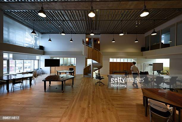 A person walks through the Mistletoe Base Camp Tokyo office operated by Mistletoe Inc in Tokyo Japan on Tuesday Aug 30 2016 When he launched...