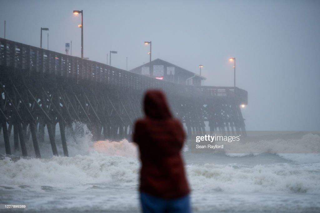 Hurricane Isaiah Makes Landfall In South Carolina : News Photo