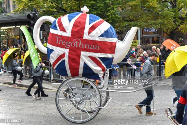 A person wearing a costume of a teapot taking part during The Lord Mayor's Show in London The traditional yearly procession brings together over 6500...