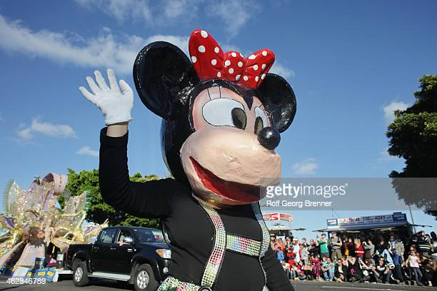 CONTENT] Person with a Minnie Mouse costume at the carnival parade in Santa Cruz de Tenerife