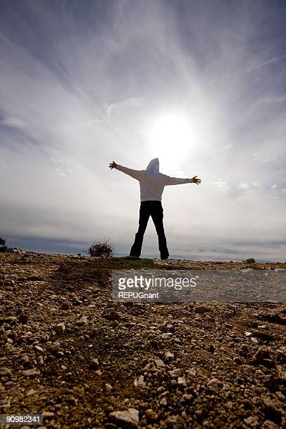 Person with Arms Outstretched