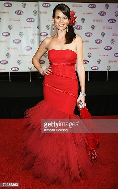 Personailty Jo Silvagni arrives for the 2006 AFL Brownlow Medal Dinner at Crown Casino September 25 2006 in Melbourne Australia