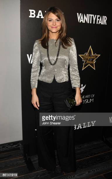 Personaity Maria Menounos arrives at the Bally and Vanity Fair Hollywood Domino Game Night benefiting The Art of Elysium held at Andaz on February...