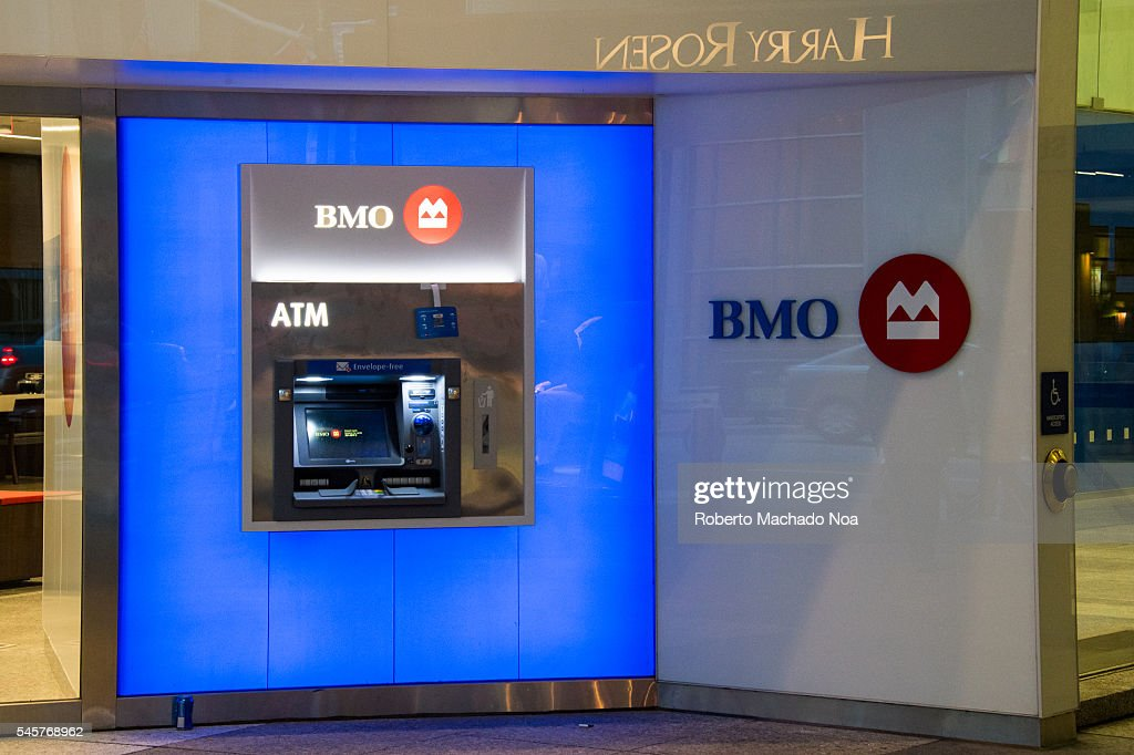 BMO personal banking machine: Bank of Montreal is the fourth... : News Photo