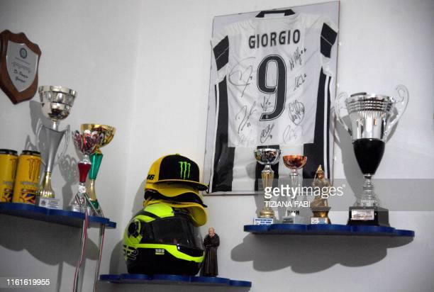 Personal belongings in the bedroom of Giorgio a teenager who died in Taranto six months ago of a cancer presumed by doctors to be linked to...