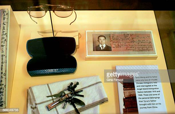 Personal belongings of Chinese immigrants interrogated at Angel Island Immigration Station in the early 1900's are on display at the Chinese American...