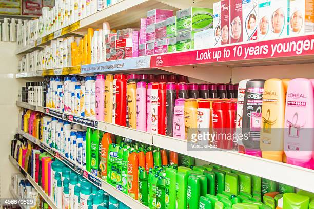 personal care products in bangalore supermarket, india - body care stock pictures, royalty-free photos & images