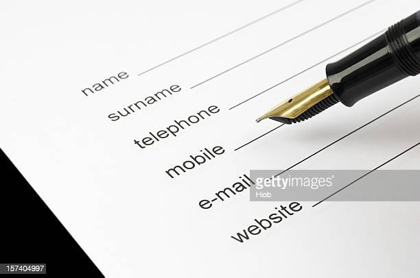 personal data - telephone number stock pictures, royalty-free photos & images