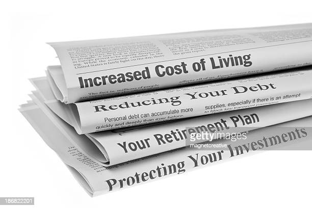 personal finance headlines - article stock pictures, royalty-free photos & images
