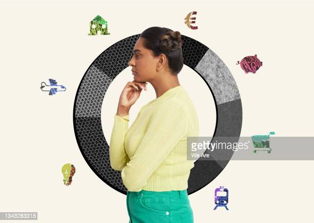 personal financial planning - only young women stock pictures, royalty-free photos & images
