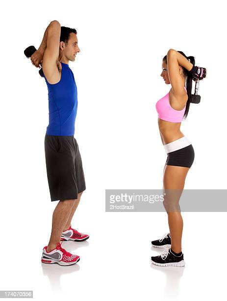 Personal Fitness Trainer with young woman