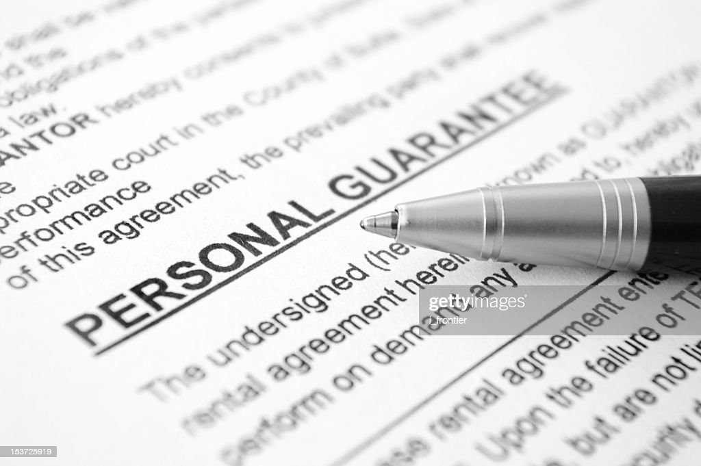 Personal Guarantee Agreement Stock Photo Getty Images