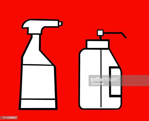 personal hygiene concept - covid icons stock pictures, royalty-free photos & images