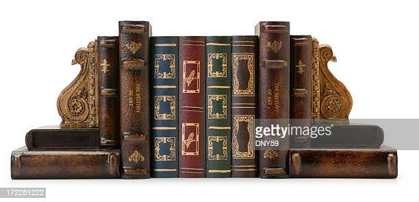 personal library - bookend stock pictures, royalty-free photos & images