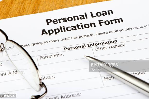 Personal Loan Application Close-up