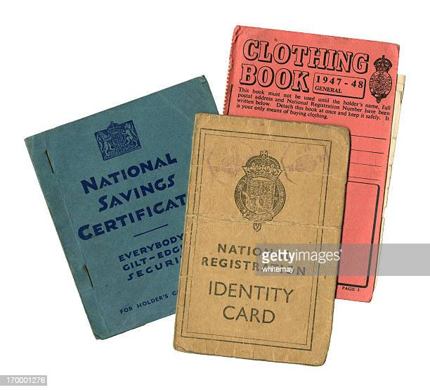personal paperwork - rationing stock photos and pictures