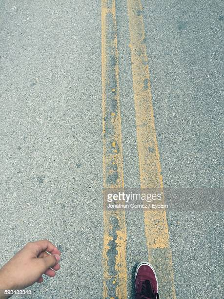 Personal Perspective Of Man On Road