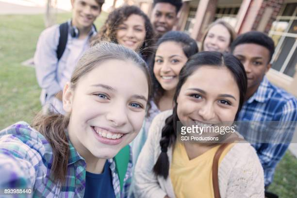 personal perspective of teenagers taking a selfie - teenagers only stock pictures, royalty-free photos & images