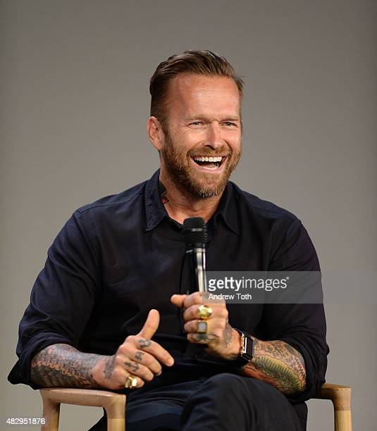 Personal trainer Bob Harper speaks on stage during Apple Store Soho presents Meet Bob Harper at Apple Store Soho on August 4 2015 in New York City