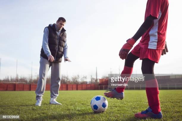 サッカーのためのパーソナル トレーナー