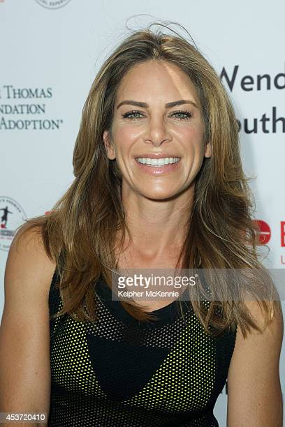 Personal Trainer Jillian Michaels attends The Dave Thomas Foundation For Adoption's 'Kickball For A Home' celebrity kickball game at University of...