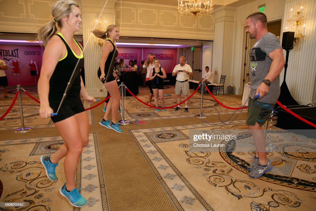 Personal trainers Chris Powell (R) and The Shasta Skippers attend OK! Body & Soul 2014 at The Casa Del Mar Hotel on June 14, 2014 in Santa Monica, California.